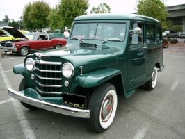 1950 Willys in green by RoadTripDog