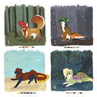 Fox Adoptables - CLOSED / AUCTION by angitsai