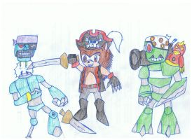 AT: Scurvy the piratebot slayer by KivaEnergyArms