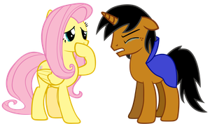 Fluttershy and Nitro (request) by ThatFatBrony