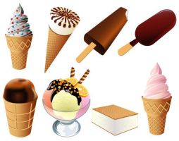 Free Vector Icecream pack by FreeIconsdownload