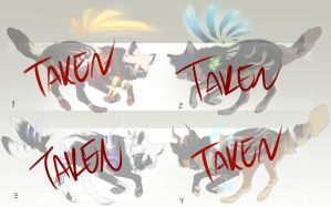 Elemental Wolves adoptable batch [CLOSED] by TheRockyCrowe