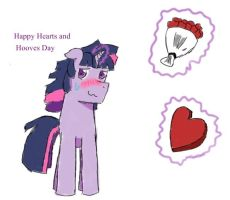 Happy Hearts and Hooves Day, Dusk Shine by Solratic
