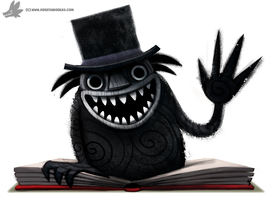 Daily Paint #1029. The Babadook by Cryptid-Creations