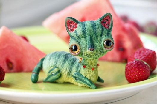 watermelon cat by da-bu-di-bu-da