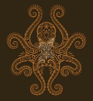 Brown Octopus Design by Jeff-Bartels