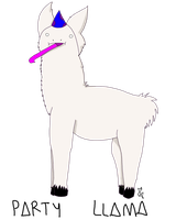 PARTY LLAMA by Nuclearpsychotic