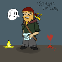 Dyrone Direblade - My DungeonsAndDragons character by lava1o