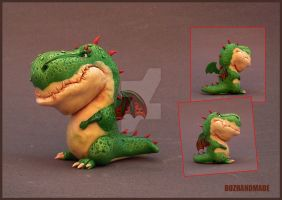 YOSHI RENEW! mini sculpture Dragon by buzhandmade