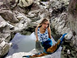 Mermaid Luana Royal Blue by sirenabonita