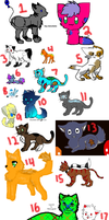 Huge FREE Adopts Sheet CLOSED by 13sPointAdopts
