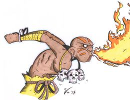 Dhalsim...YOGA FIRE!! by MattVincent