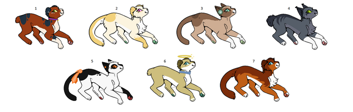 Feline Adoptables (Set Price) by PoisonFate