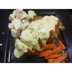 Chicken Roulade with Potato Salad by nosugarjustanger