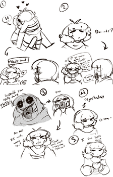 Frisk's gay for Nightmaretale monsters again..! by Channydraws