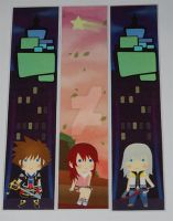 Kingdom hearts bookmarks 1 by knil-maloon