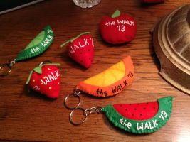 Fruit Keychains 1 by IndigoNose