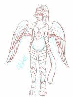 Draconians: Aris Sketch Lines by Naikios
