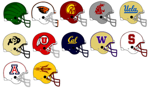 Pac 12 Helmets 2014 by Chenglor55