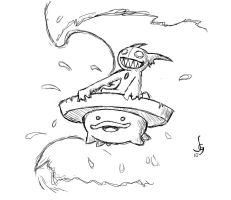 Lotad Used Surf by wizzrobe