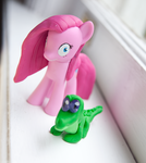 MLP: FiM Custom sculpt Pinkamena and Gummy by alltheApples