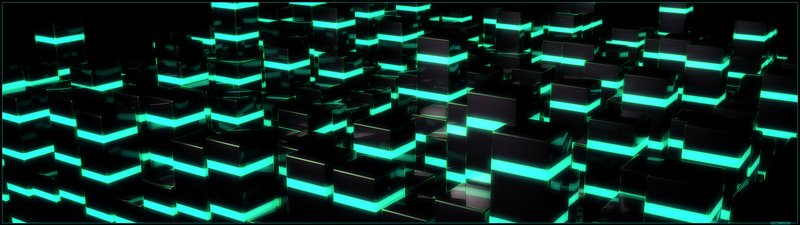 UPDATED C4D Dualscreen wallpaper (3840x1080) by xCustomGraphix