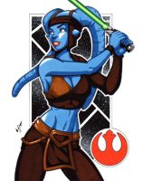 Aayla Secura commission by gb2k