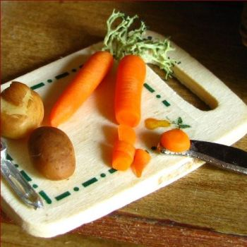 Chopping Carrots and Potatoes by fairchildart