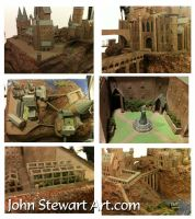 Hogwarts castle. a few closer pics by johnstewartart