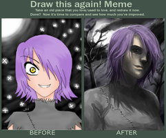 Draw this again! Meme: Four years, 2009-2013 by jaoosa