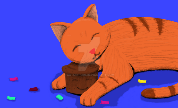 Cat and Cupcake by CATGBP1990