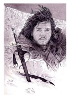 Jon Snow and Longclaw by roberthendrickson