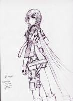 Lightning Farron Sketch by EnigmaticMemory