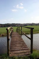 Bridge to greener pastures by NHuval-stock