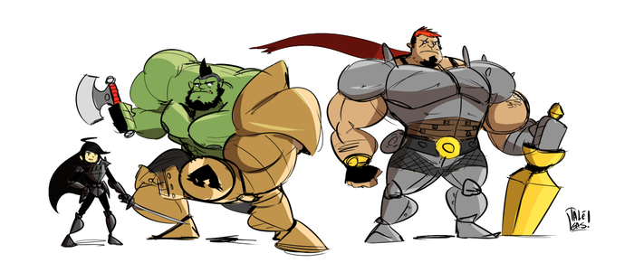 Knights and Orc by ItsTalegas