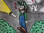 I draw Luigi by Huntertallonian