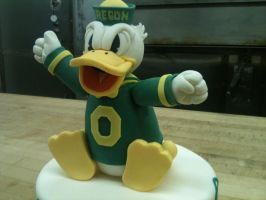 Oregon Ducks Mascot Close Up by Spudnuts