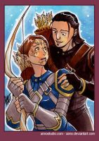 PSC - Nathaniel and Dalish OC by aimo