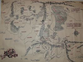 Middle Earth Map by shurtugalgeek