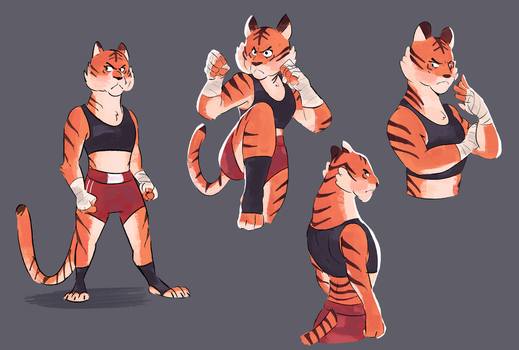 Muay Thai Tigers by Beezii11