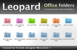 Office Leopad folders by Myssynen