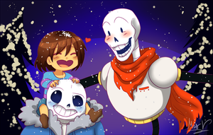 Skele-bros are family for life by MaxPaineVolumn