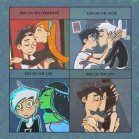 Danny Phantom Cute Kiss Meme by Cheshire-no-Neko