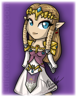 Chibi Princess of Hyrule by Luifex