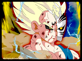 Majin Vizard Vegeta -Colored- by coycoy