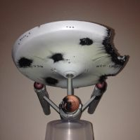 Damaged ISS ENTERPRISE NCC-1701 Ventral by Johnny-E