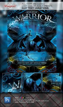 ANGELIC WARRIOR CHURCH FLYER TEMPLATE by STRONGHOLDSTUDIOS