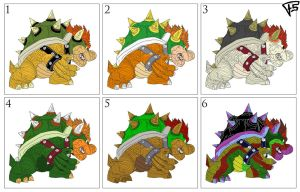 Bowser Colors by Brainstorm-bw-style