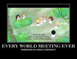 The summary of every world meeting in Hetalia by TheMightyLilah