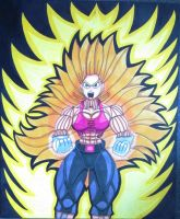 Bulla Super Saiyan 3 Transformation (Requested) by MasterMcCraig1982